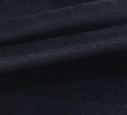 Tecido Veludo Preto Liso