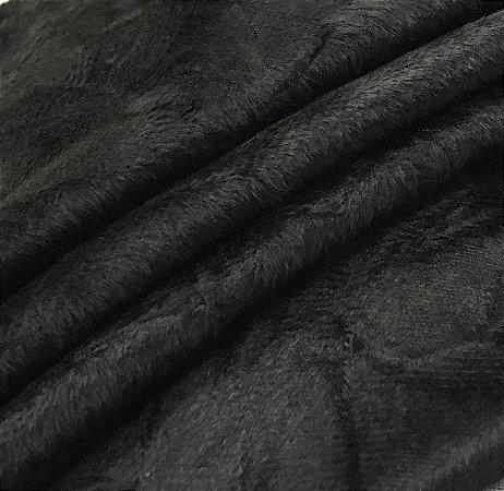 Tecido Suede Amassado Preto - 06