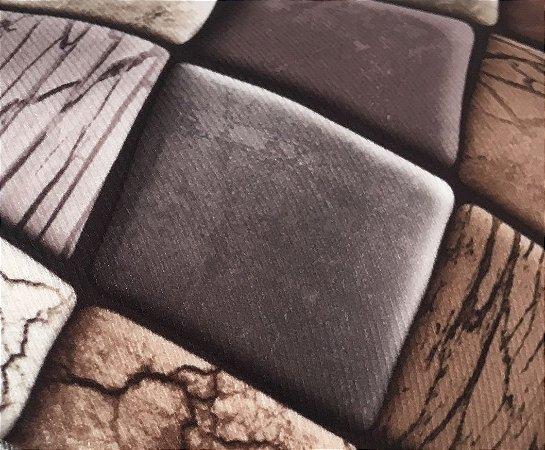 Tecido Veludo Macio 3D Estilo Pedras