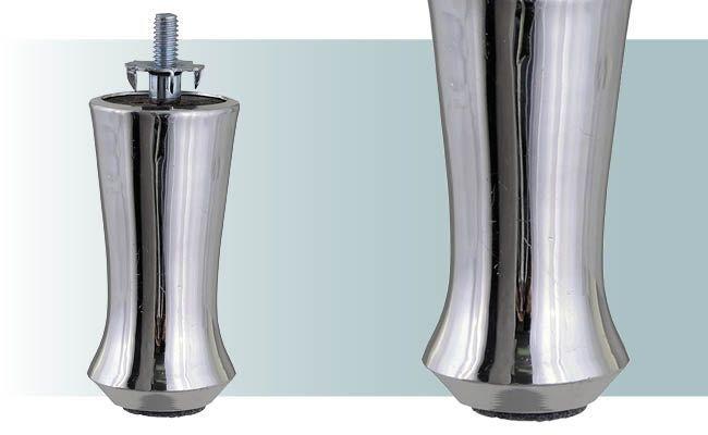Pe para sofá de alumínio milk médio com 9 cm altura - AR78