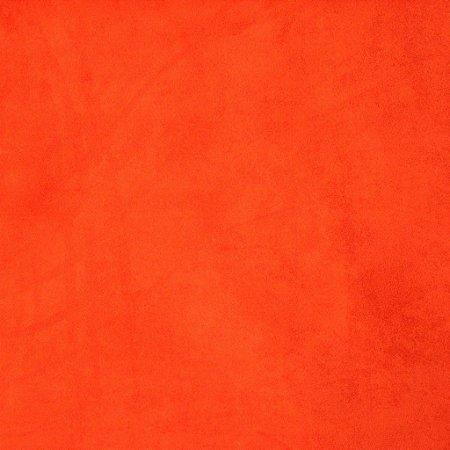 Tecido suede laranja liso - 13