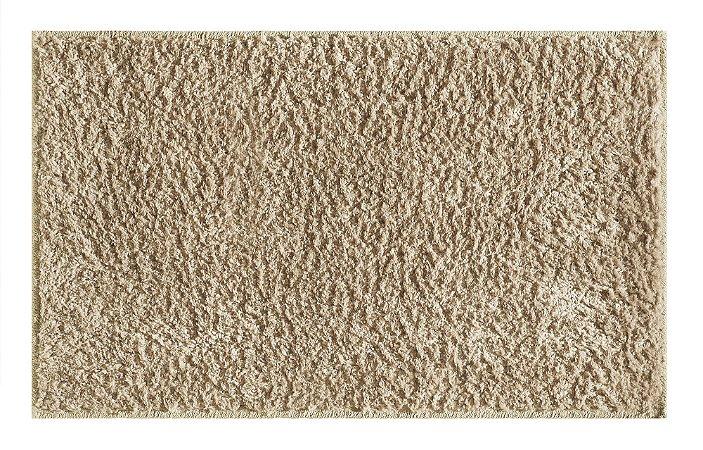 Tapete pelo macio silky 2,00cm x 2,50cm Bege Viiva
