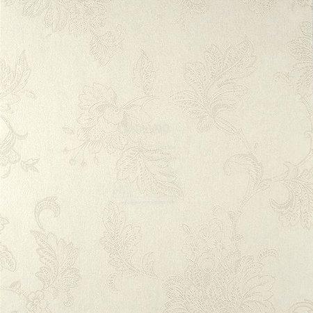 Papel de Parede Diamond Fundo e Floral em Pérola Texturizado - DT650601