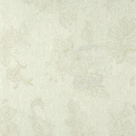 Papel de Parede Diamond Fundo Verde Claro Flora em Creme Texturizado - DF650605