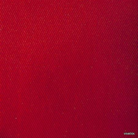 Tecido Sarja Vermelho Ferrari