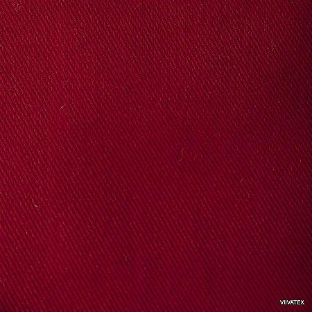 Tecido Sarja Vermelho Escuro