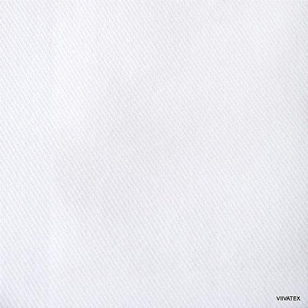 Tecido Sarja Branca peletizado com 1,60 metros de largura