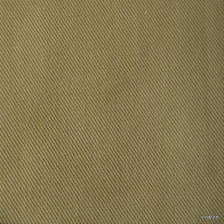 Tecido Sarja Verde Fendi - Peletizada, para sofá, cadeiras, poltronas e capas com 265 gramas