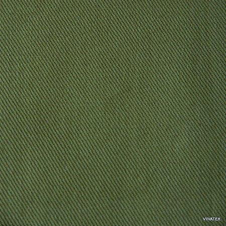 Tecido Sarja Verde Bandeira