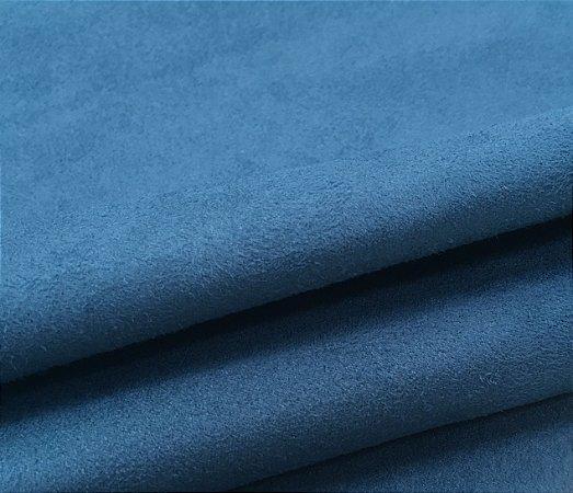 Tecido suede azul turquesa liso - 16