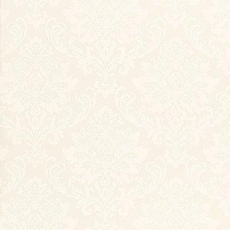 Papel de Parede Ruby, Brasão Creme, Leve Brilho - TD310501