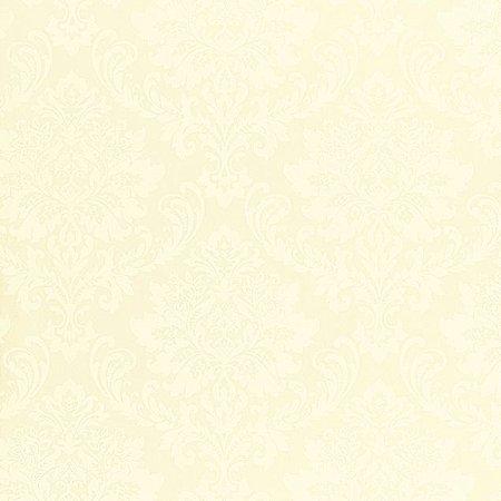 Papel de Parede Ruby, Brasão Bege Claro, Leve Brilho - TD310502