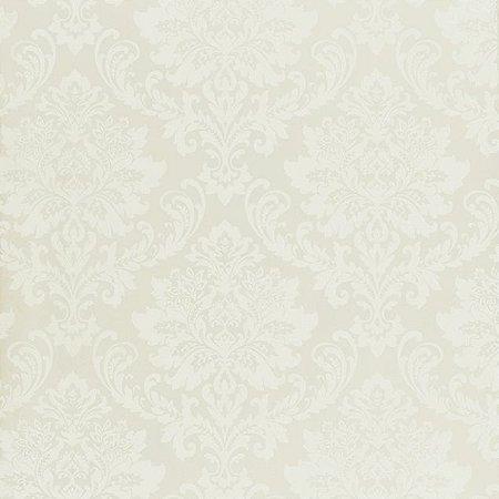 Papel de Parede Ruby, Brasão Creme, Leve Brilho - TD310505