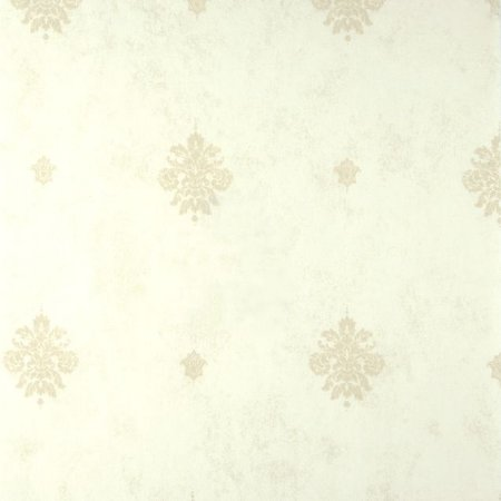 Papel de Parede Ruby, Pequenos brasões, Creme claro, leve brilho - AG601001