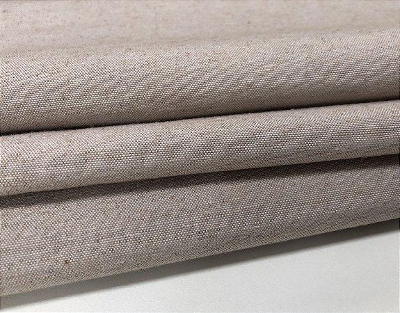 Tecido Linho Impermeabilizado Catarina - Bege Claro - Macio, Liso, Confortável