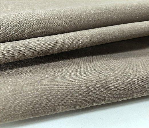 Tecido Linho Impermeabilizado Catarina - Bege Escuro - Macio, Liso, Confortável
