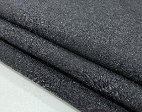 Tecido Linho Impermeabilizado Catarina - Chumbo - Macio, Liso, Confortável