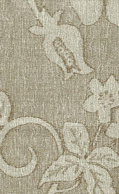 Tecido Chenille Viscose Floral Bege - RUS 16