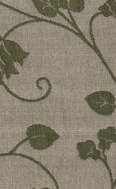 Tecido Chenille Viscose Bege com floral em Verde Escuro - RUS 29