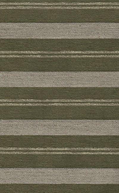 Tecido Chenille Viscose Listrado com Verde Escuro e Bege - RUS 30