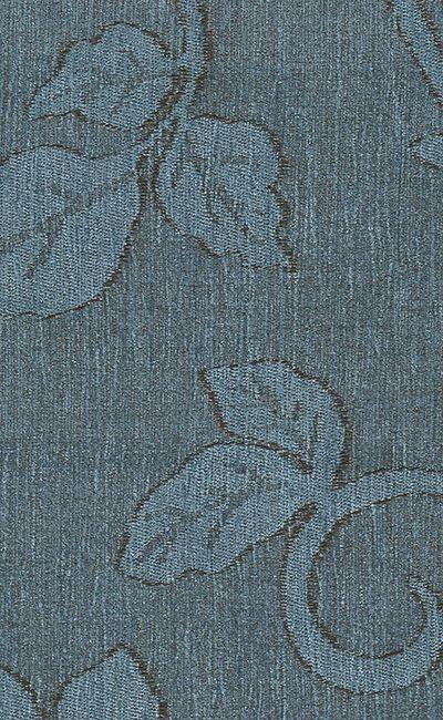Tecido Chenille Viscose Listrado Floral em Azul - RUS 42