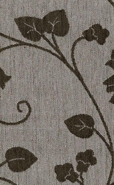 Tecido Chenille Viscose Bege em Floral Marrom - RUS 51