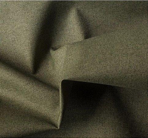 Tecido para Sofá e Estofado Impermeabilizado Verde Musgo Liso - AST- 09