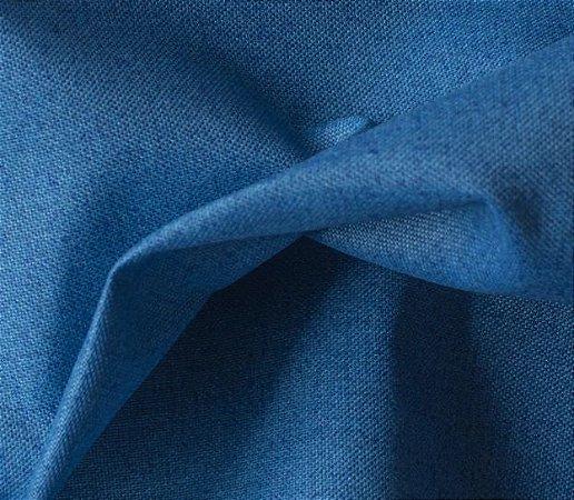 Tecido para Sofá e Estofado Impermeabilizado Azul Liso - AST- 34