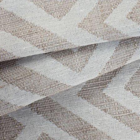 Tecido para Sofá Linho Rústico  Geométrico Bege - Vice 07