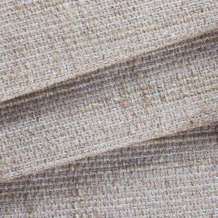 Tecido para Sofá Linho Rústico Liso Bege com Tramas Brancas - Vice 15