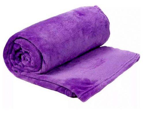 Manta Cobertor Para o Frio Casal Microfibra Macia 1,80x2,05 Roxo Fatex
