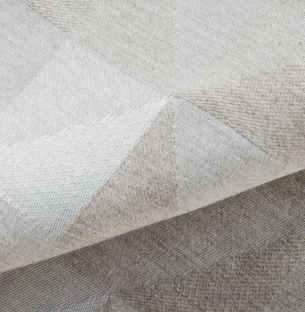 Tecido para Sofá Linho Rústico Triângulos Areia- Vice 31
