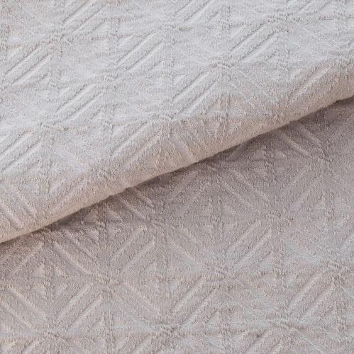 Tecido para Sofá e Estofado Jaquard  Bege triangular - Ferr - 17