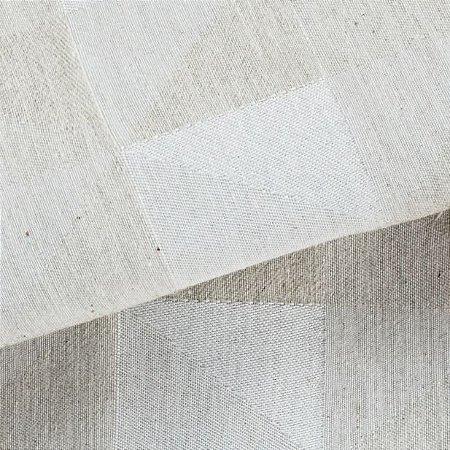 Tecido para Sofá Linho Rústico Triângulos Verde Claro- Vice 43