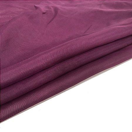 Tecido Voil liso cor marsala para roxo - 10 Metros de comprimento