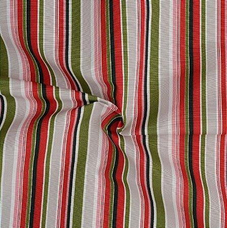 Tecido Acqua Sammer listrado em Tons de Vermelho e Verde - Summer 342