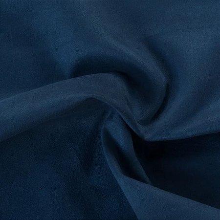 Tecido Suede Grosso Azul - Apol 07