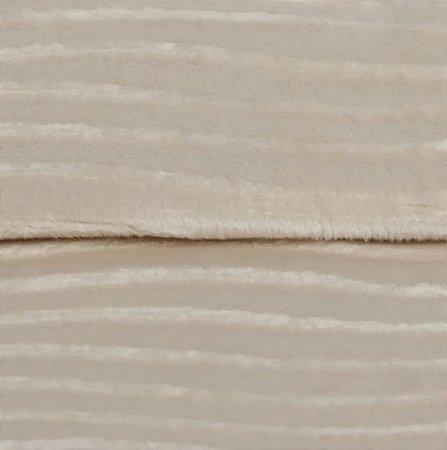 Tecido Veludo Bege Claro - Enrugado 01