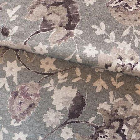 Tecido para Sofá e Estofado Veludo Floral - MARSE 23