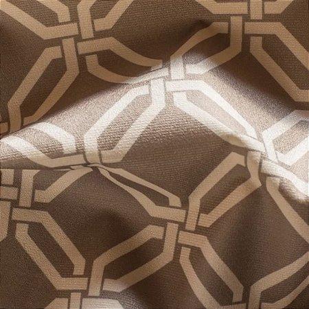 Tecido para Sofá e Estofado Veludo Geométrico bege - MARSE 26