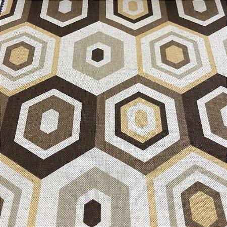Tecido Para Sofá e Estofado Geométrico Em Tons De Amarelo e Cinza - Egito 36
