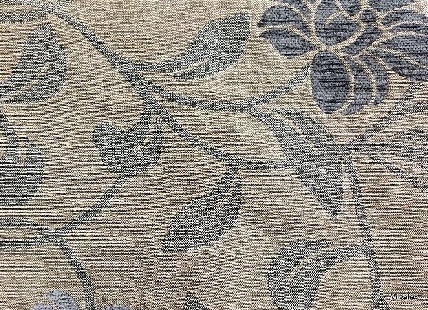 Tecido para sofa chenille Floral Tons de Areia, Cinza - Tur 16