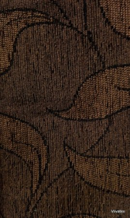 Tecido para sofa chenille Folhas em Marrom Claro - Tur 25