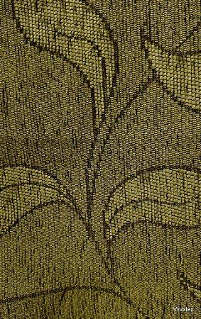 Tecido para sofa chenille Folhas Tabaco Claro - Tur 27