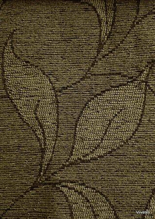 Tecido para sofa chenille Folhas Ocre Escuro - Tur 28