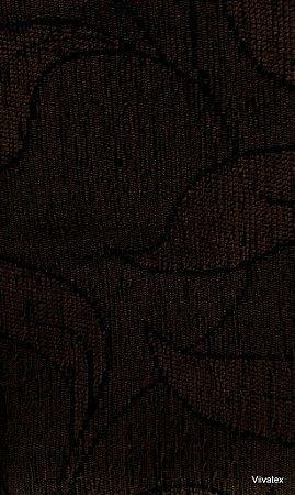 Tecido para sofa chenille Folhas Marrom Escuro - Tur 29