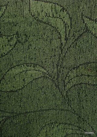 Tecido para sofa chenille Folhas Musgo - Tur 33