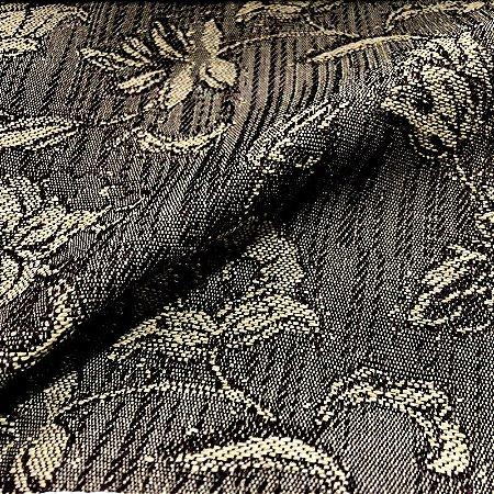 Tecido Para Sofá Jacquar Bege Claro Floral - Havana 32