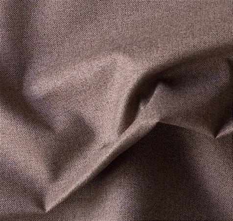 Tecido para Sofá e Estofado Impermeabilizado  marrom Liso - AST-  05