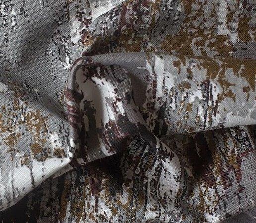 Tecido para Sofá e Estofado Impermeabilizado Cinza Granito - AST- 46